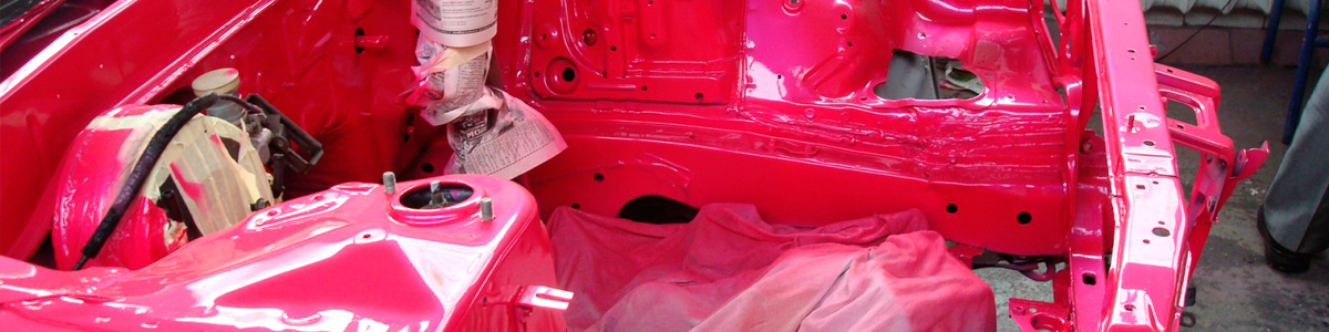 Покраска подкапотного пространства в автомобиле